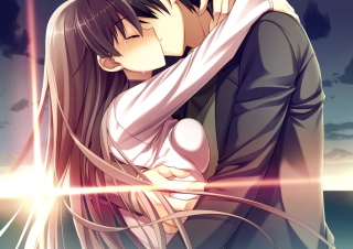Free Anime Kiss Picture for Android, iPhone and iPad