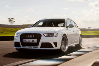 Audi RS4 Background for Android, iPhone and iPad