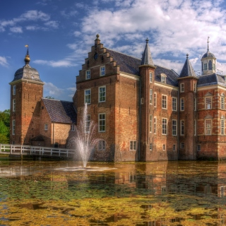 Netherlands Kasteel Ruurlo - Obrázkek zdarma pro 128x128