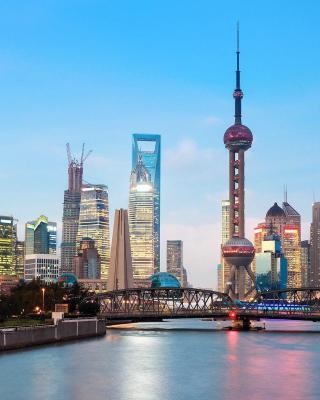 Shanghai Bund Waterfront Area - Obrázkek zdarma pro 128x160