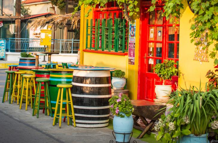 Greek Tavern wallpaper
