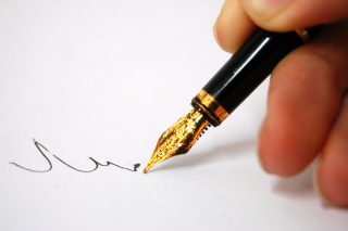 Thoughtful Pen Writing Wallpaper for Android, iPhone and iPad