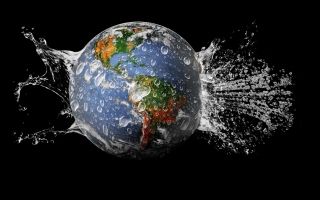 Planet Needs Shower Wallpaper for Android, iPhone and iPad