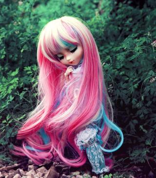 Doll With Pink Hair - Obrázkek zdarma pro Nokia Asha 308