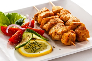 Chicken Skewers Background for Android, iPhone and iPad