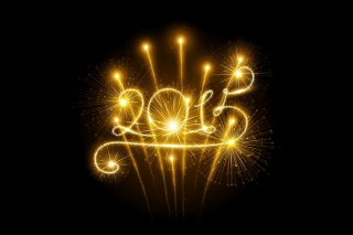 2015 Happy New Year Fireworks Background for Android, iPhone and iPad