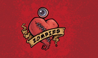 Zombies Heart Background for Android, iPhone and iPad