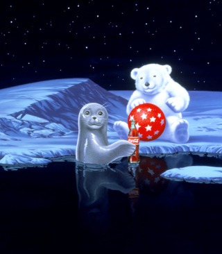 Coca-Cola Christmas Party On North Pole - Obrázkek zdarma pro Nokia X6