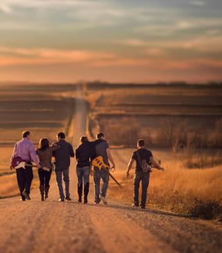 Music Band On Road - Obrázkek zdarma pro Nokia Asha 300