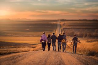 Music Band On Road - Obrázkek zdarma pro 1280x720