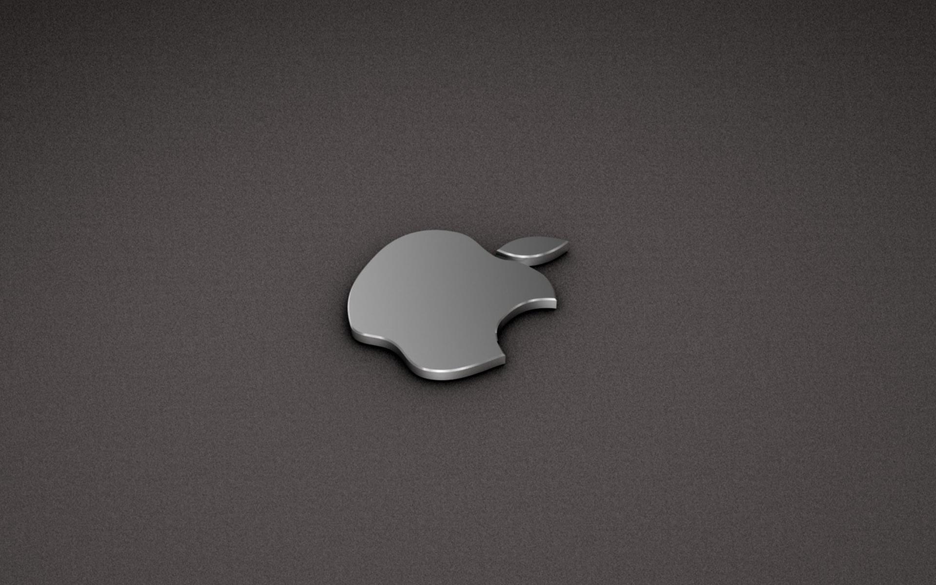 apple logo metallic wallpaper for 1920x1200图片