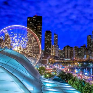 Chicago, Illinois, Navy Pier - Obrázkek zdarma pro iPad 2