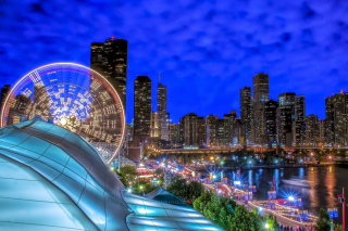 Chicago, Illinois, Navy Pier Wallpaper for Android, iPhone and iPad