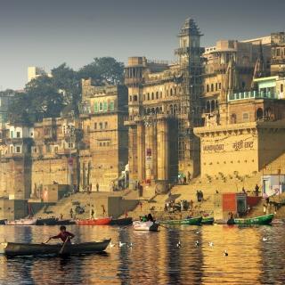 Varanasi City in India - Obrázkek zdarma pro 208x208
