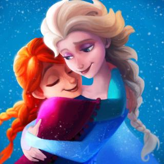 Frozen Sisters Elsa and Anna - Obrázkek zdarma pro 128x128