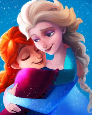 Frozen Sisters Elsa and Anna - Obrázkek zdarma pro Nokia Asha 303