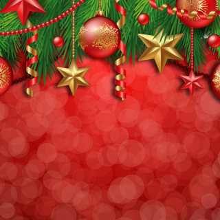 Red Christmas Decorations - Obrázkek zdarma pro iPad