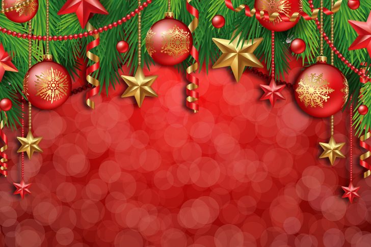 Red Christmas Decorations wallpaper