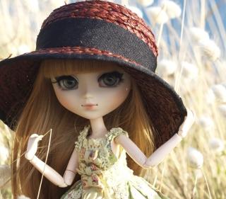 Pretty Doll In Hat - Obrázkek zdarma pro 208x208