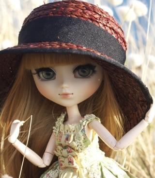 Pretty Doll In Hat - Obrázkek zdarma pro 128x160