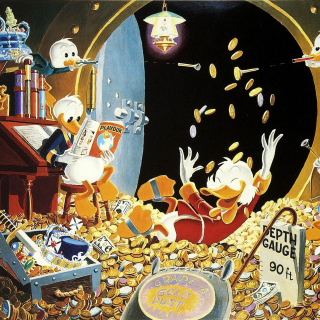 DuckTales and Scrooge McDuck Money - Obrázkek zdarma pro iPad Air