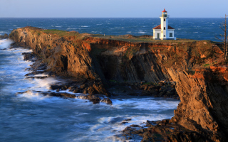 Cape Arago Lighthouse Wallpaper for Android, iPhone and iPad