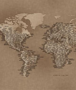 World Map - Obrázkek zdarma pro 480x800
