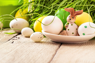 Easter still life with hare Wallpaper for Android, iPhone and iPad