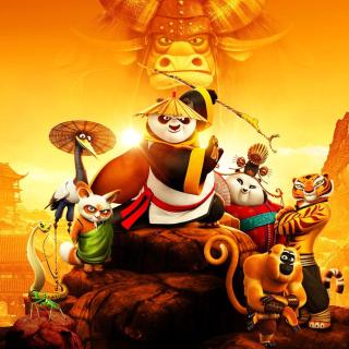 Kung Fu Panda 3 3D - Obrázkek zdarma pro iPad Air