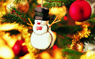 Free Christmas Snowman Craft Picture for Android, iPhone and iPad