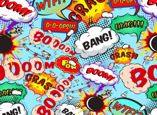 Expressions Crash Boom Bang Background for Android, iPhone and iPad