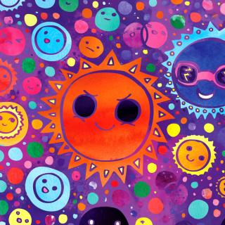Funny Suns - Obrázkek zdarma pro iPad 3