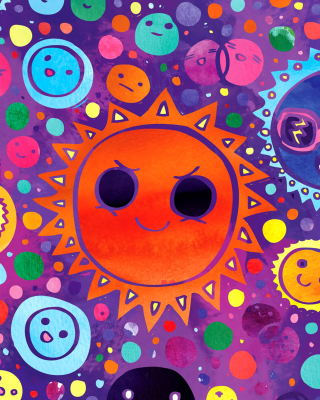 Funny Suns Background for 480x854