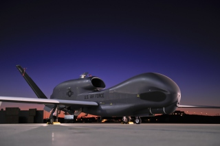 Northrop Grumman RQ 4 Global Hawk surveillance aircraft Background for Android, iPhone and iPad