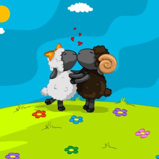 Cartoon Kisses - Obrázkek zdarma pro 208x208