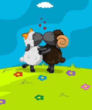 Cartoon Kisses - Obrázkek zdarma pro 320x480
