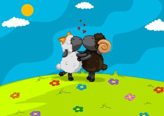 Cartoon Kisses - Obrázkek zdarma pro 800x480