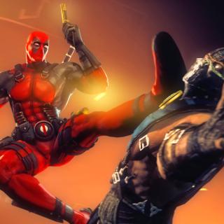 Deadpool Marvel Comics Hero - Obrázkek zdarma pro iPad 3