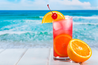 Refreshing tropical drink Wallpaper for Android, iPhone and iPad