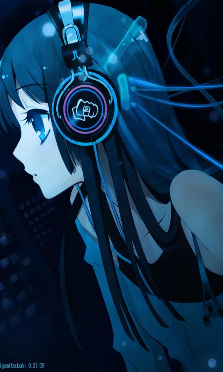 Anime girl with headphones fondos de pantalla gratis - Anime para fondo ...
