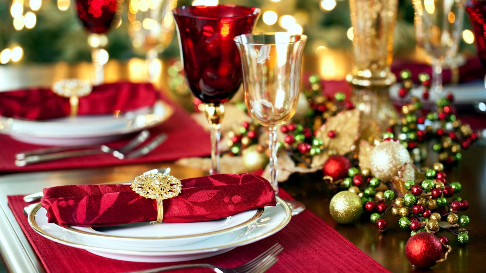 Фото сервировки новогоднего стола своими руками6
