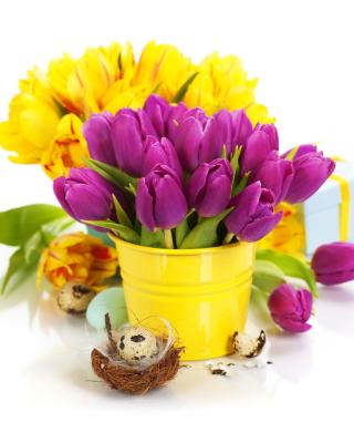 Spring Easter Flowers - Obrázkek zdarma pro Nokia Asha 309