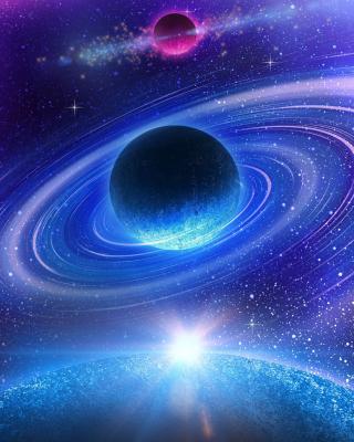 Planet with rings - Obrázkek zdarma pro 132x176