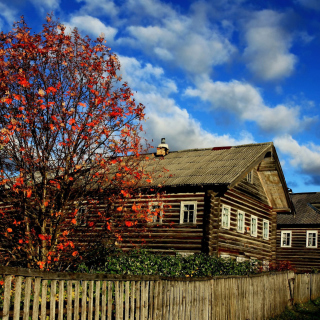 Village house design - Obrázkek zdarma pro 1024x1024