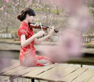 Pretty Asian Girl Violinist - Obrázkek zdarma pro 2048x2048