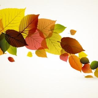 Drawn autumn leaves - Obrázkek zdarma pro iPad Air