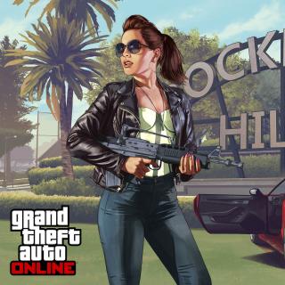 Grand Theft Auto V Girl - Obrázkek zdarma pro 1024x1024