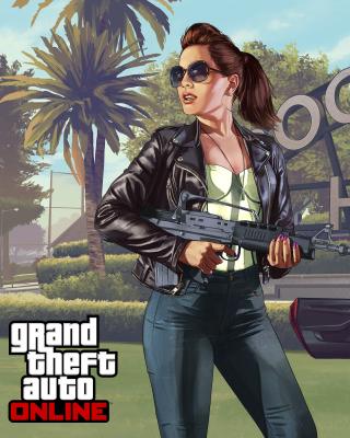 Grand Theft Auto V Girl - Obrázkek zdarma pro Nokia Asha 309