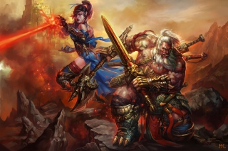 Free Barbarian - Diablo III Picture for Android, iPhone and iPad