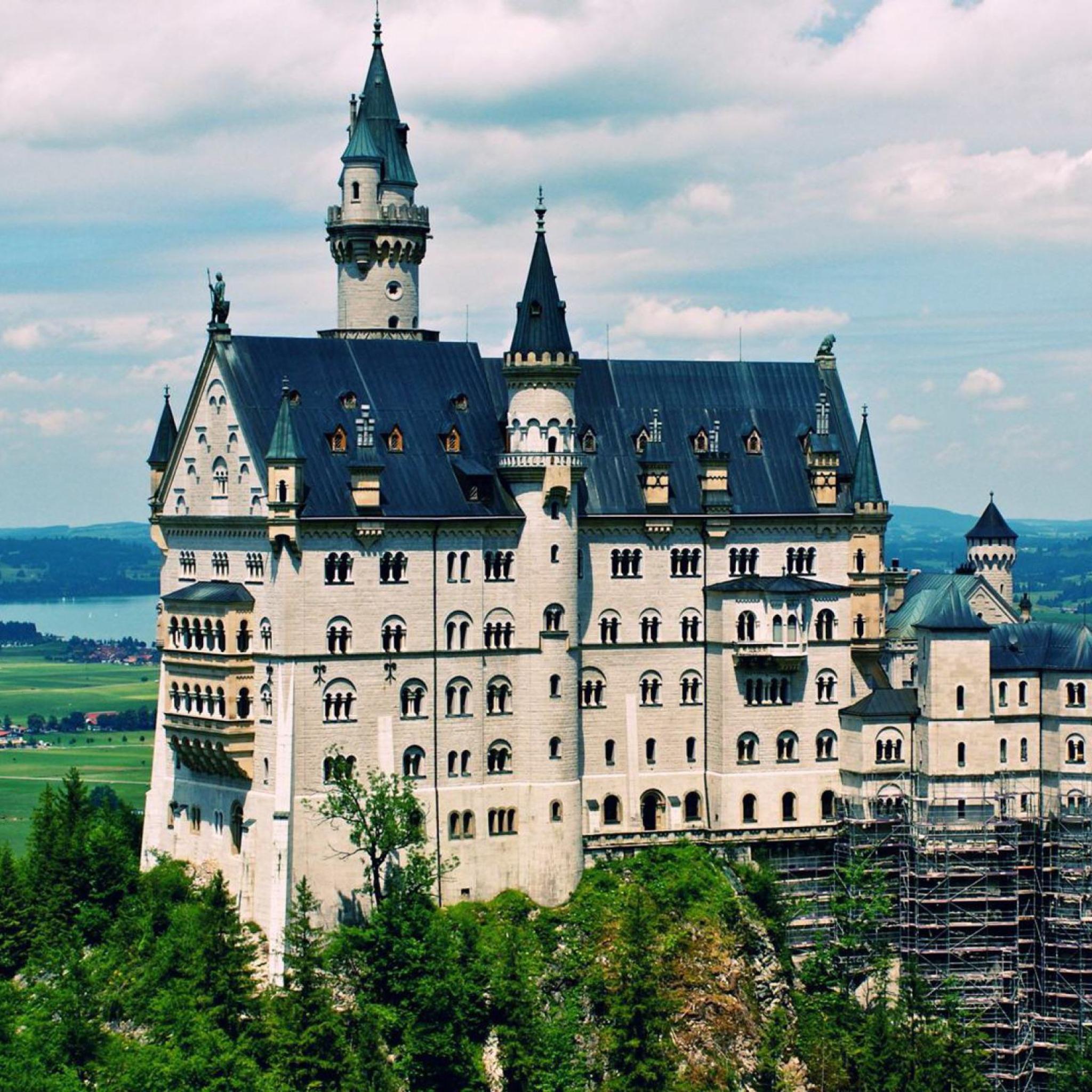архитектура страны Замок Нойшванштайн Швангау Германия  № 2231552 бесплатно